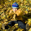 Boy relaxing in autumn — Stock Photo #15412413