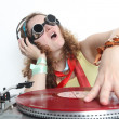 Stock Photo: Cool DJ isolated on white