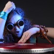 Cool DJ isolated on black — Stock Photo
