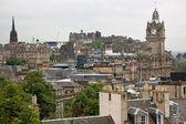 Edinburgh vista from Calton Hill including Edinburgh Castle and — Stock Photo