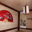 A traditional   Chinese room with Big  fan - Zdjcie stockowe