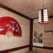 A traditional   Chinese room with Big  fan - Stok fotoraf