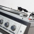 1970's vintage stereo with eight track, radio and turntable. - Lizenzfreies Foto