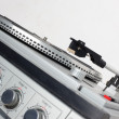 1970's vintage stereo with eight track, radio and turntable. — Stock Photo