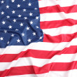 Flapping flag USA with wave — Stock Photo #16046509