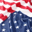 Flapping flag USA with wave — Stock Photo #16046849