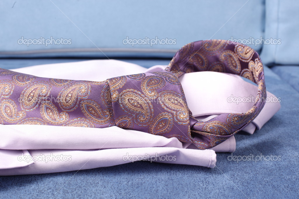 Men's shirt with  neck tie  — Stock Photo #16046289