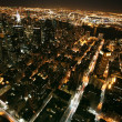 Nighttime in New York, Manhattan — Stock Photo