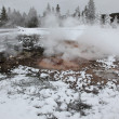 Hot spring inside the caldera. Yellowstone National Park — Stock Photo