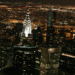 Nighttime in New York, Manhattan — Stockfoto #16337571
