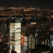 nacht in new york, manhattan — Stockfoto