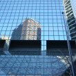 Classical New York- reflections in skyscrapers in Manhattan — Stock Photo