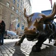 Bull in NY Wall Street - Stock Photo