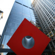 Red Cube. New York, USA — Stockfoto