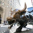 Bull in NY Wall Street — Stock Photo
