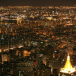 Nighttime in New York, Manhattan — Stockfoto #16338417