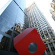 Red Cube. New York, USA — 图库照片