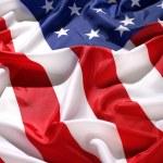 Flag USA with wave — Stock Photo #1646572