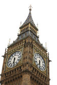 Big Ben isolated on white, London gothic architecture, UK — Stockfoto