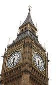 Grote ben geïsoleerd op wit, londen gotische architectuur, verenigd koninkrijk — Stockfoto