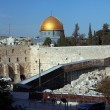 Western Wall (Wailing Wall, Kotel) and Dome of the Rock Al-Aqsa - Stock Photo