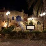 Old street of Jaffa, Tel Aviv in the night, Israel — Stock Photo