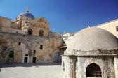 Cupola sulla chiesa del santo sepolcro a gerusalemme, israele — Foto Stock