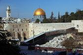 Western Wall (Wailing Wall, Kotel) and Dome of the Rock Al-Aqsa — Stock Photo