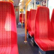 Vacant seats train — Stock Photo