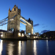 Evening Tower Bridge, London, UK — Stock Photo #17694155