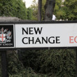Stock Photo: New change Sign, London