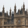 Houses of Parliament, Westminster Palace, London gothic architecture - Foto Stock