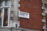 Sign Grosvenor street in London — Stock Photo