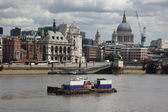 Thames, Blackfriars bridge and St Paul's cathedral — Stock Photo