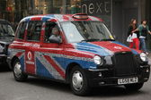 Carriage, also called London Taxi or Black Cab — Stock Photo
