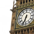 Stock Photo: Big Ben clock isolated on white, London gothic architecture, UK