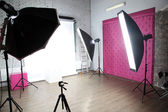 Interior of my modern photo studio — Stock Photo