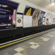 Inside view of London Underground — Stock Photo