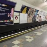 Inside view of London Underground — Stock Photo