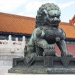 Traditional Imperial guard lion at the Gate of Supreme Harmony in Forbidden City, Beijing, China — Stock Photo #18464651