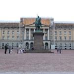 Постер, плакат: Statue of king Carl Johan in the park