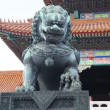 Traditional Imperial guard lion at the Gate of Supreme Harmony in Forbidden City, Beijing, China — Stock Photo #18465845