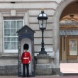 Guard in traditional red uniform, London, England -  