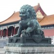 Traditional Imperial guard lion at the Gate of Supreme Harmony in Forbidden City, Beijing, China — Stock Photo #18466603