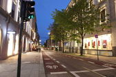 Empty Oslo street in the city center at night. Norway — Stock Photo