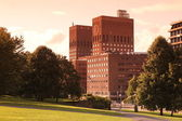 City Hall behind the trees, Oslo, Norway — Stock Photo