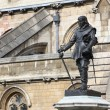 Stock Photo: Oliver Cromwell - Statue in front of Palace of Westminster (Parliament), London, UK