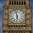 Close up of Big Ben Clock Tower Against Blue Sky England United Kingdom — Stock Photo #18767655