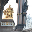 Close-up of the statue of Prince Albert, Albert memorial, London, UK - Foto Stock