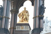 Close-up of the statue of Prince Albert, Albert memorial, London, UK — Stock Photo